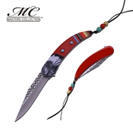 Indian Native American Claw Knife Red