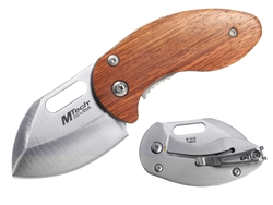 MTech Wood Stubby Knife Brown