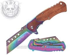 Mtech Spring Assisted Rainbow EDC Knife MT-A1050RB | Carry Knives