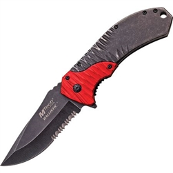 Mtech 2 Tone Folding EDC Knife Red Mt-A885Rd | Carry Knives