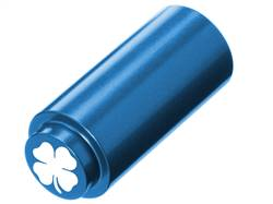 NDZ 1911 RECOIL SPRING PLUG IN ALUMINUM BLUE FOUR LEAF CLOVER