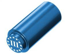 NDZ 1911 RECOIL SPRING PLUG IN ALUMINUM BLUE THREE PERCENTER WITH STARS