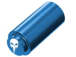 NDZ 1911 RECOIL SPRING PLUG IN ALUMINUM BLUE WIDE EYE SKULL