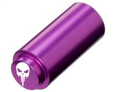 NDZ 1911 RECOIL SPRING PLUG IN ALUMINUM PURPLE WIDE EYE SKULL