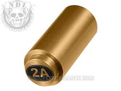 NDZ 1911 Recoil Spring Plug Second Amendment in TiN Gold