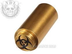 NDZ 1911 Recoil Spring Plug Biohazard in TiN Gold