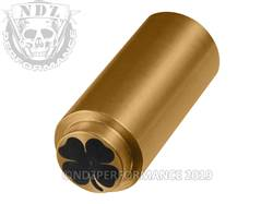 NDZ 1911 Recoil Spring Plug Four Leaf Clover in TiN Gold