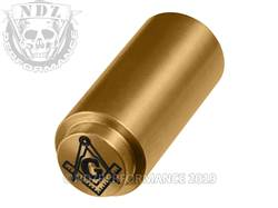 NDZ 1911 Recoil Spring Plug Masonic Square Compass in TiN Gold