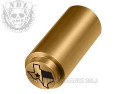 NDZ 1911 Recoil Spring Plug Texas With Flag in TiN Gold