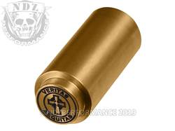 NDZ 1911 Recoil Spring Plug Veritas Aequitas Circle in TiN Gold