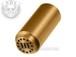 NDZ 1911 Recoil Spring Plug Three Percenter Stars in TiN Gold