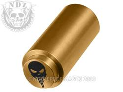 NDZ 1911 Recoil Spring Plug NDZ Skull in TiN Gold