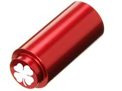 NDZ 1911 RECOIL SPRING PLUG IN ALUMINUM RED FOUR LEAF CLOVER