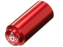 NDZ 1911 RECOIL SPRING PLUG IN ALUMINUM RED MASONIC SQUARE & COMPASS