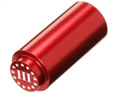 NDZ 1911 RECOIL SPRING PLUG IN ALUMINUM RED THREE PERCENTER WITH STARS