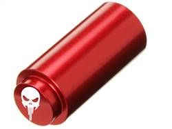 NDZ 1911 RECOIL SPRING PLUG IN ALUMINUM RED WIDE EYE SKULL