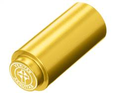 NDZ 1911 RECOIL SPRING PLUG IN ALUMINUM GOLD VERITAS AEQUITAS WITH CIRCLE