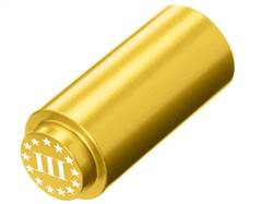 NDZ 1911 RECOIL SPRING PLUG IN ALUMINUM GOLD THREE PERCENTER WITH STARS