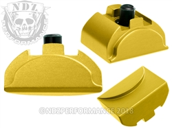 NDZ Gold Grip Plug AL9 With Backstrap Installed for Glock Gen 4-5 (*LZ)