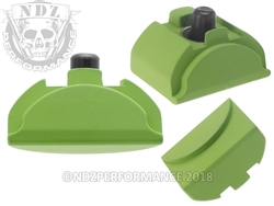 Aftermarket Glock Gen 4 -5 Grip Plug In Cerakote Zombie Green - Backstrap Compatible | NDZ Performance