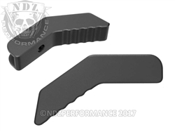 NDZ Performance AR Billet Aluminum Collapsible Stock Lever Black