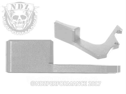 NDZ Silver Charging Handle Tactical Latch for AR-15 (*LZ)