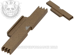NDZ Burnt Bronze Extended Slide Lock Lever for Glock Gen 1-5