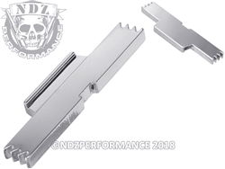 NDZ Chrome Extended Slide Lock Lever for Glock Gen 1-5