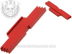 NDZ Red Extended Slide Lock Lever for Glock Gen 1-5