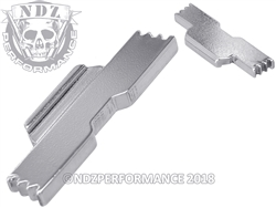 NDZ Chrome Extended Slide Lock Lever for Glock 42