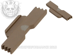 NDZ FDE Extended Slide Lock Lever for Glock 42
