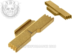 NDZ Gold Extended Slide Lock Lever for Glock 42