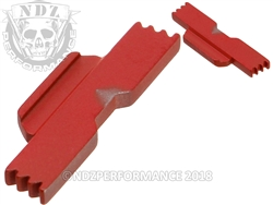 NDZ USMC Red Extended Slide Lock Lever for Glock 42