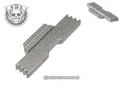 NDZ Silver Extended Slide Lock Lever for Glock 42