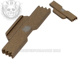 NDZ Burnt Bronze Extended Slide Lock Lever for Glock 43