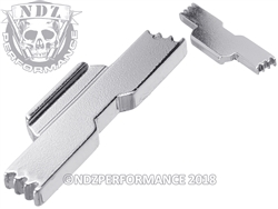 NDZ Chrome Extended Slide Lock Lever for Glock 43