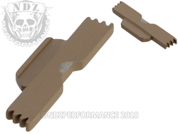NDZ FDE Extended Slide Lock Lever for Glock 43