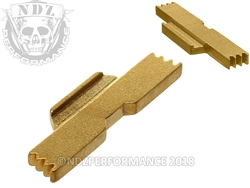 NDZ Gold Extended Slide Lock Lever for Glock 43