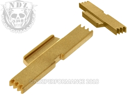 NDZ Gold Extended Slide Lock Lever for S&W SD9 SD40 VE