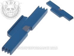 NDZ Cerakote Ridgeway Blue Extended Slide Lock Lever for S&W SD9 SD40 VE