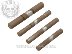 NDZ Stainless Steel 4 Pin Kit for Glock Gen 1-3 Cerakote FDE