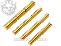 NDZ Stainless Steel 4 Pin Kit for Glock Gen 1-3 Gold TiN