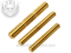 NDZ Stainless Steel 3 Pin Kit for Glock Gen 5 Gold TiN
