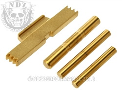 gold plated glock parts kit gen5 pins esll more