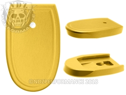 NDZ Gold Magazine Plate for Smith & Wesson M&P .45 Full-size