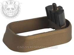 NDZ Magwell for Glock 17 19 22 34 35 Gen 4 Cerakote Burnt Bronze (*LZ)