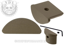 NDZ Glock 43 Customizable HC FDE Grip Plug