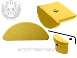 NDZ Gold Grip Plug for Glock 43 (*LZ)