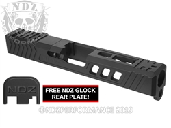 NDZ19 TROI Slide Upgrade For Glock 19 Gen 1-3 With RMR Cut And Plate In Armorer Black Cerakote