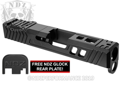 NDZ26 TROI Slide Upgrade For Glock 26 Gen 1-4 With RMR Cut And Plate In Armor Black Cerakote